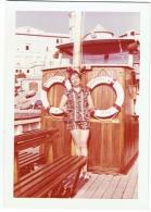 "Foto/Photo. Femme/Pin Up Sur Bateau ""Christina - Nervi"" - Pin-Ups"