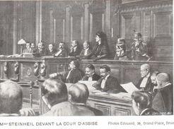 Bruxelles - CPA - Mme Steinheil Devant D'assise - Beroemde Personen