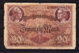 Darlehenskassenschein, 20 Mark, Berlin 1914 (43790) - [ 2] 1871-1918 : German Empire