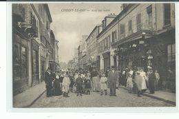 94 CHOISY Le ROI Rue Du Pont , Personnage Avec Chapeau Haut De Forme , Femmes Et Enfants Dans La Rue - Choisy Le Roi