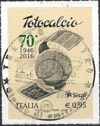 2016 Italien Mi. 3905 Used   70 Jahre Italienische Fußballlotterie Totocalcio. - 2011-...: Usati