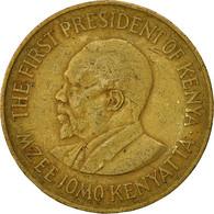 Kenya, 10 Cents, 1977, TTB, Nickel-brass, KM:11 - Kenya