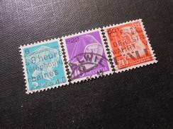 ZNr. 14Azl-16Azl - 5/10/20C - Portofreiheitsmarken - 1935 - Z CHF 5.00 - Portofreiheit