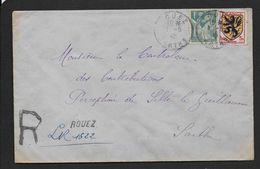 Sarthe - Recommandé Provisoire De  ROUEZ - Marcophilie (Lettres)