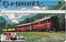 PTT: KP-94/340A4 501L 150 Jahre Schweizer Bahnen - Bernina-Express - Schweiz