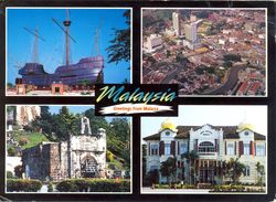 Malaisie - Greetings From Malacca - Multivues - 1995 - The Sun Heritage Postcard Nº 220 - Ecrite, Timbrée - 3092 - Malaysia