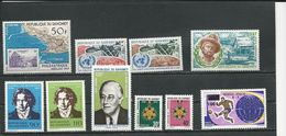 DAHOMEY Voir Détail  (10) ** Cote 13,00$ 1969-70 - Bénin – Dahomey (1960-...)