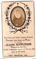 Souvenir De Décès Amiens Religieuse Du Sacré Coeur Jeanne Supplisson - Décès