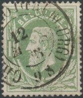 N° 30, TB Obl Centrale DC 'Charleroi (Faubourg)', Nipa +5? - 1869-1883 Leopold II.
