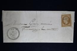 France:  Lettre Complet 1860  PC 3668 Vix  Canton De Chaille Les Marais Vendee - Storia Postale