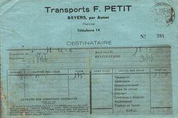 TRANSPORTS F. PETIT BAYERS PAR AUNAC - France
