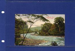 POSTCARDS-Costa Rica -  1938 -  Reventazon River - Port Limon - Used In El Salvador - Costa Rica