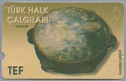 TR.- Telefoonkaart. TÜRK TELEKOM. TÜRK HALK CALGILARI. Vurmali. HAGEM ARSIVI. TEF. 60 Units. 2 Scans. - Turquie
