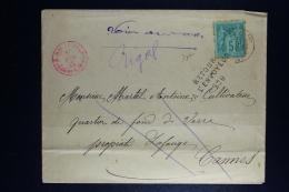 France:   Enveloppe 1885 Cannes A Cannes Cachet Retour L'envoyeur - Marcofilie (Brieven)