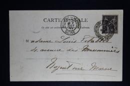 France:  Carte Postale 1901  Constantinople Turque A Nogeni Sur Marne Seine - Levant (1885-1946)