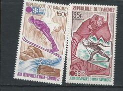 DAHOMEY Scott 293, C153 Yvert  311, PA156 (2) ** Cote 4,60$ 1972 - Bénin – Dahomey (1960-...)