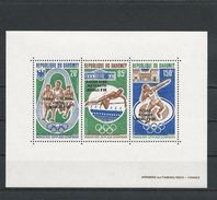 DAHOMEY Scott C172a Yvert  BF20 (bloc) ** Cote 5,50$ 1972 Surcharge - Bénin – Dahomey (1960-...)