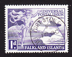 Falkland Islands, Scott #103, Used, UPU, Issued 1949 - Falkland