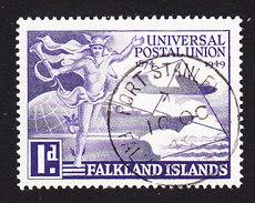 Falkland Islands, Scott #103, Used, UPU, Issued 1949 - Falkland Islands