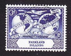 Falkland Islands, Scott #104, Used, UPU, Issued 1949 - Falkland Islands