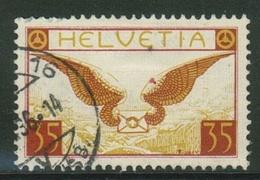 Suisse // Schweiz // Switzerland // Poste Aérienne  // Zumstein No.14 Oblitéré (dentelure Abimée En Haut Du Timbre) - Poste Aérienne