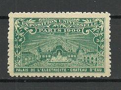 France 1900 EXPOSITION UNIVERSELLE Paris Palais De L'Electricite Chateau D'Eau MNH - 1900 – Paris (Frankreich)
