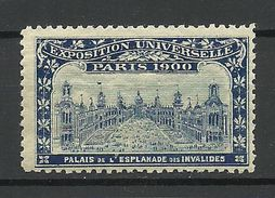 France 1900 EXPOSITION UNIVERSELLE Paris Palais De L'Esplanade Des Invalides MNH - 1900 – Paris (Frankreich)