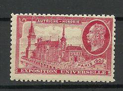 France 1900 EXPOSITION UNIVERSELLE Paris Österreich- Ungarisches Pavillion MNH - 1900 – Paris (France)