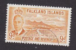 Falkland Islands, Scott #114, Used, George V And Industry Of Falkland Islands, Issued 1952 - Falkland Islands