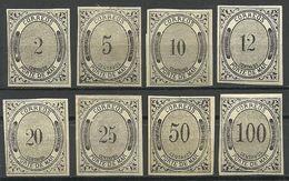 MEXICO 1875 Seepostmarken = 8 Werte Aus Michel - 12 * - Mexiko