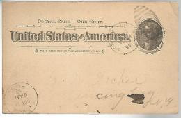 52983 ) USA Postal Stationery Springfield Troy Postmarks Duplex 1897 - Interi Postali