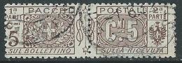 1914-22 REGNO PACCHI POSTALI USATO 5 CENT - PP7-4 - Pacchi Postali