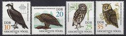 Germany (DDR) 1982   Geschutzte Greifvogel (**) MNH  Mi. 2702-2705 - Unused Stamps