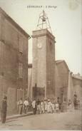 LEDIGNAN -  La Tour De L'Horloge Et Le Temple Protestant Attenant - Andere Gemeenten