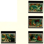 ESPACE - Comète De Halley - Niue 1986 Y&T N°488 à 491 *** - Space