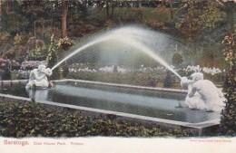 New York Saratoga Springs Tritons Fountain Club House Park 1912