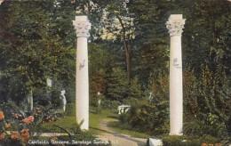 New York Saratoga Springs Scene In Canfield's Gardens 1908