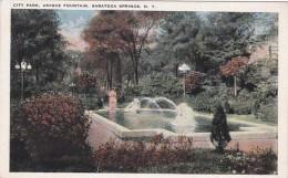 New York Saratoga Springs Unique Fountain In City Park
