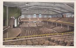 New York Saratoga Springs Convention Hall Interior Curteich
