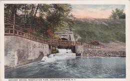 New York Saratoga Springs Godfrey Bridge In Reservation Park Cur