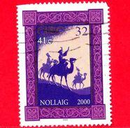 IRLANDA - Usato - 2000 - Natale - Christmas - Nollaig  - Re Magi - Cammelli - 32 - 41 C - 1949-... Repubblica D'Irlanda