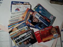 LOT D UNE CINQUANTAINE DE CARTES TELEPHONIQUES. ANNEES 90 / 2000 - Télécartes