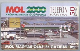HU.- Hongarije. - Telefoonkaart. Telefon Kartya. MATAV. MOL MAGYAR OLAJ- Es GAZIPARI Rt. MOL 2000. 2 Scans - Hongarije
