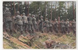 CPA ALLEMANDE-  Militaires Soldats Allemand Tranchée Surveillance Bicyclette  (guerre14-18)TBE - Oorlog 1914-18