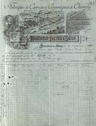 Fabrique De Carreaux Céramiques De Chimay - Maufroid Frères & Soeur, Bourlers-lez-Chimay 1890 Illustration - 1800 – 1899