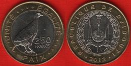 """Djibouti 250 Francs 2012 Km#42 """"Turkey"""" BiMetallic UNC - Djibouti"""