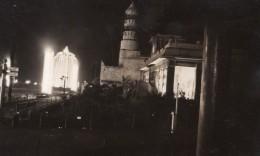 Paris Exposition Coloniale La Nuit Pavillons Djibouti Indes Fontaine Ancienne Photo Amateur 1931 - Lieux