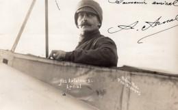 Aviation Aviateur Arnal Autographe A Arnaud De Pontac Ancienne Carte Photo 1911 - Aviation