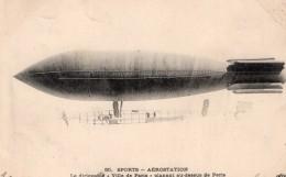 France Aviation Dirigeable Militaire Ville De Paris Surcouf Ancienne Carte Postale CPA 1906 - Zeppeline