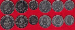 East Caribbean States Set Of 6 Coins: 1 Cent - 1 Dollar 2004-2008 UNC - Ostkaribischer Staaten